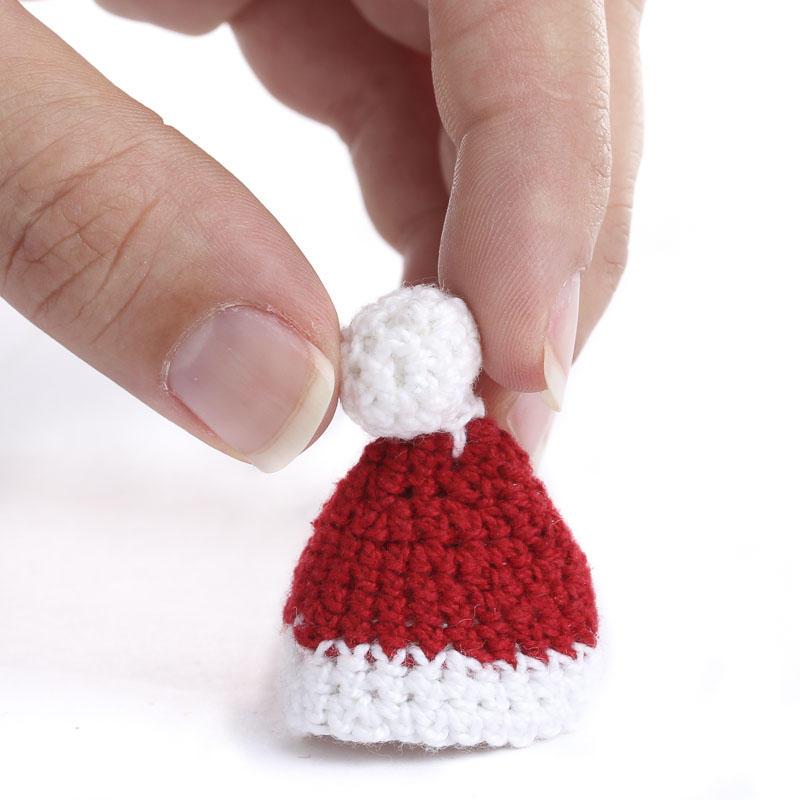 Miniature Hand Crocheted Santa Hat - Doll Hats - Doll Making ...