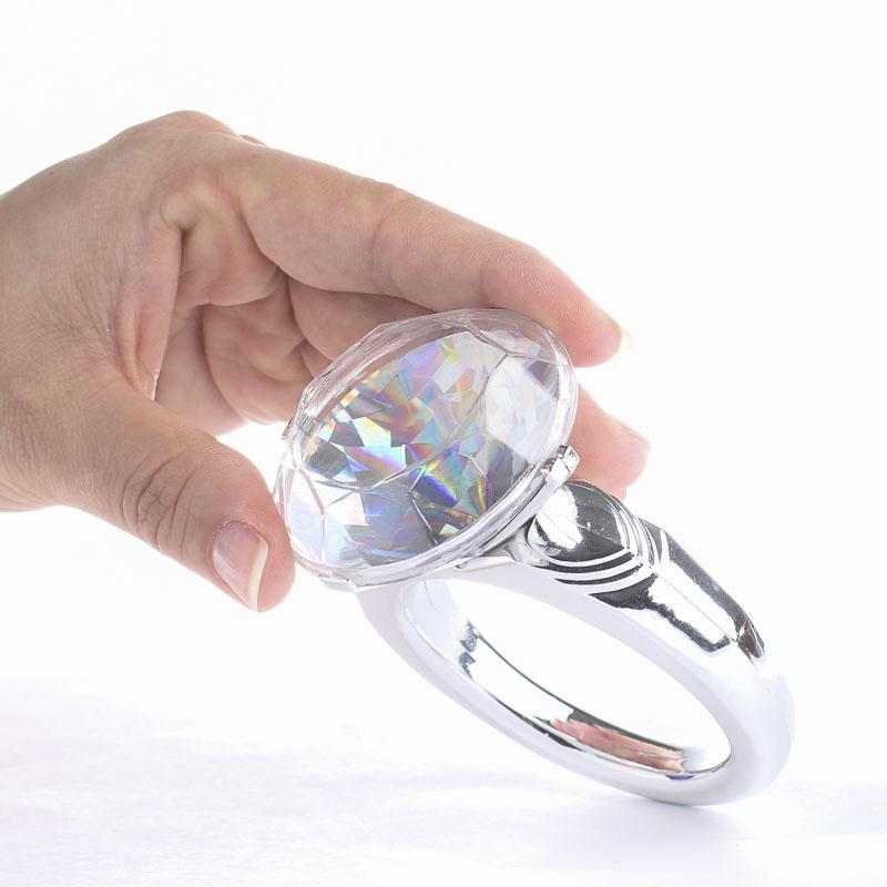 giant plastic diamond rings giant wedding diamond ring bridal shower - Plastic Wedding Rings