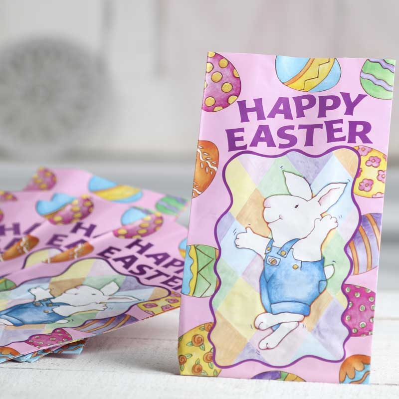 Happy easter gift bags gift bags favor bags party supplies click here for a larger view negle Image collections