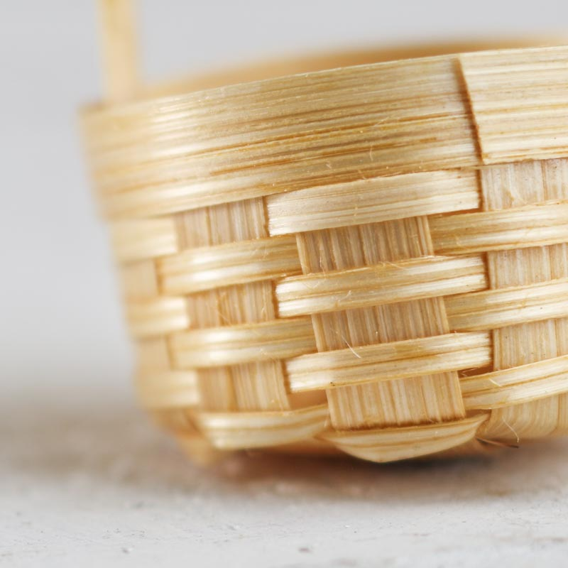 Bamboo Basket Making Supplies : Mini wicker basket what s new dollhouse miniatures