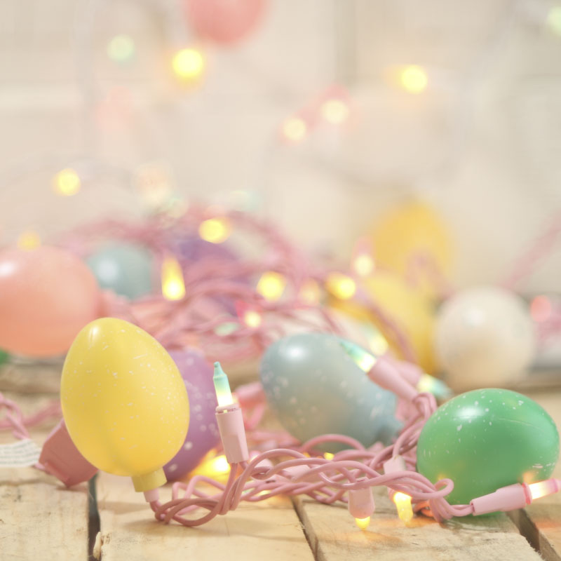 Speckled Easter Egg and Pastel Bulb Cord String Lights - What s New - Holiday Crafts