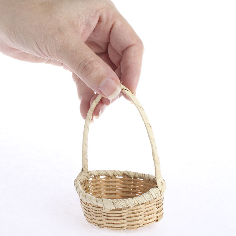 small wicker and palm basket baskets floral supplies. Black Bedroom Furniture Sets. Home Design Ideas