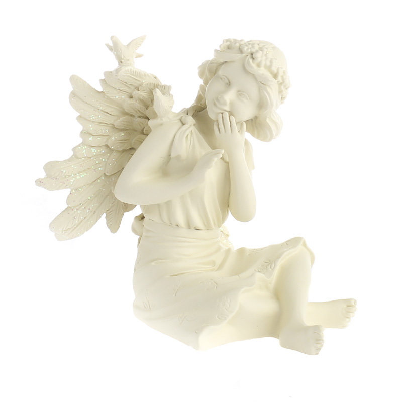 Angel star joy inspiration fairyfigurine table decor for Angels decorations home