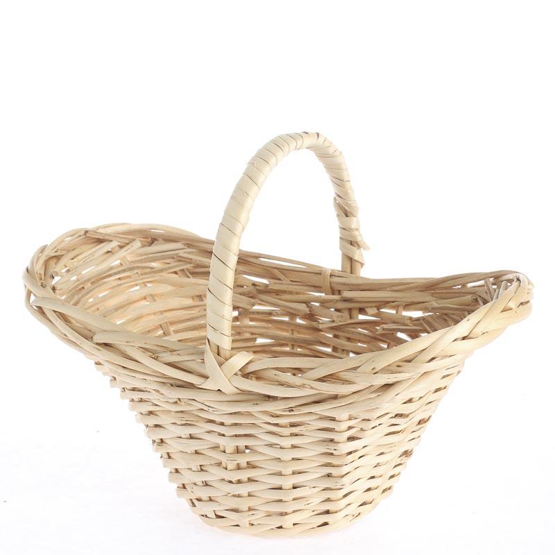 small wicker market basket baskets floral supplies. Black Bedroom Furniture Sets. Home Design Ideas