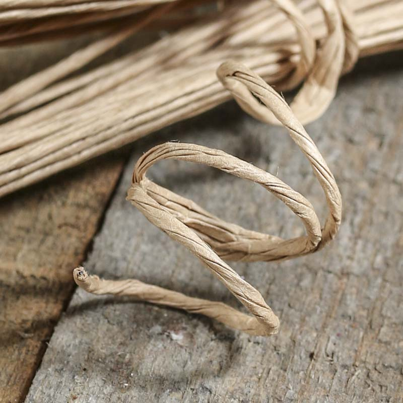Khaki Craft Paper Wire Wire Rope String Basic