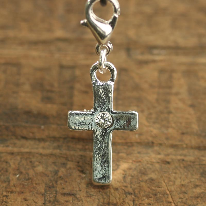 Rhinestone Cross Charm Jewelry Charms Jewelry Making