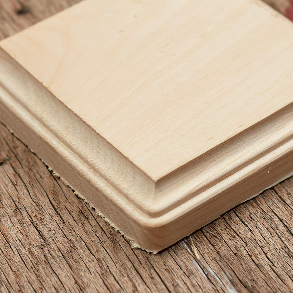 Unfinished Wood Clipped Corner Square Plaque Wooden