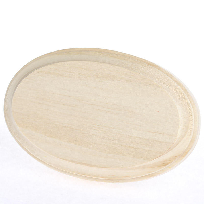 Unfinished wood clipped edge oval plaque wooden plaques for Wood plaques for crafts