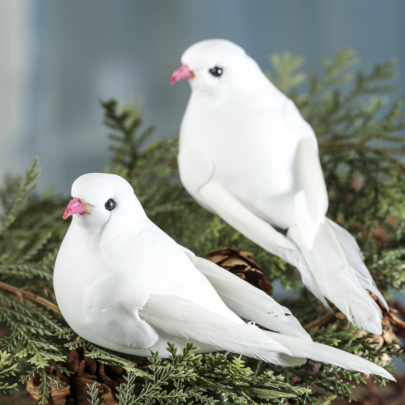 Artificial dove mushroom birds birds butterflies for Fake birds for crafts