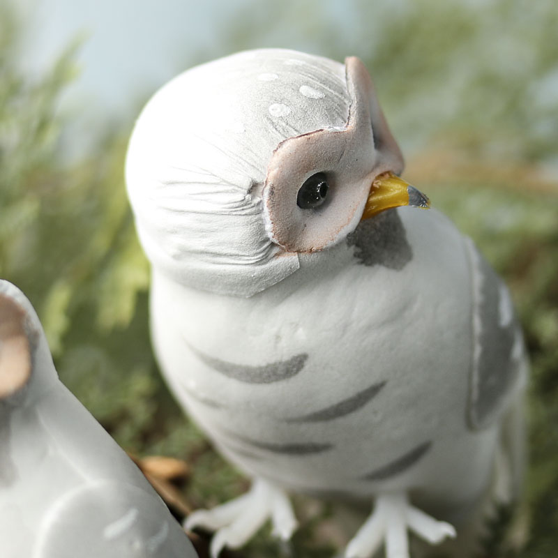 Artificial barn owl mushroom birds artificial birds and for Fake birds for crafts