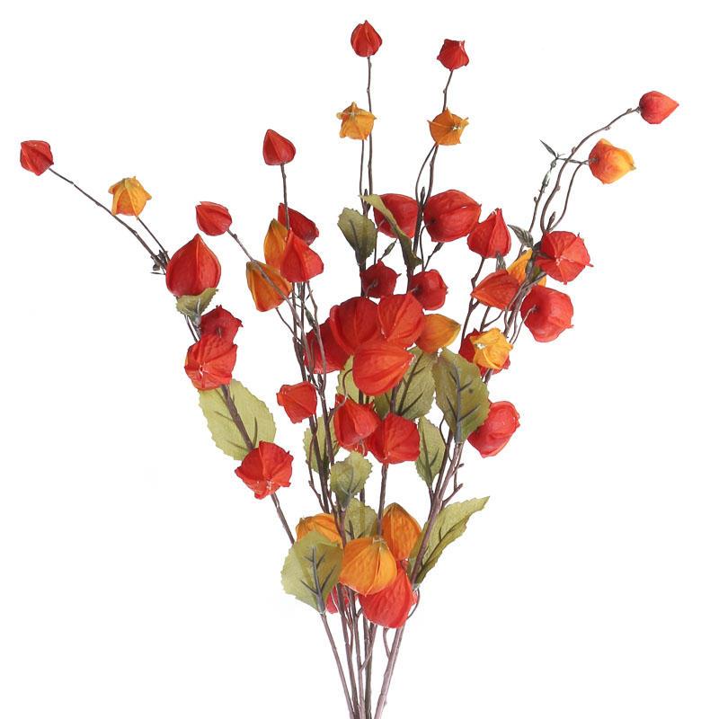 Artificial Chinese Lantern Pod Bush - Bushes + Bouquets ...