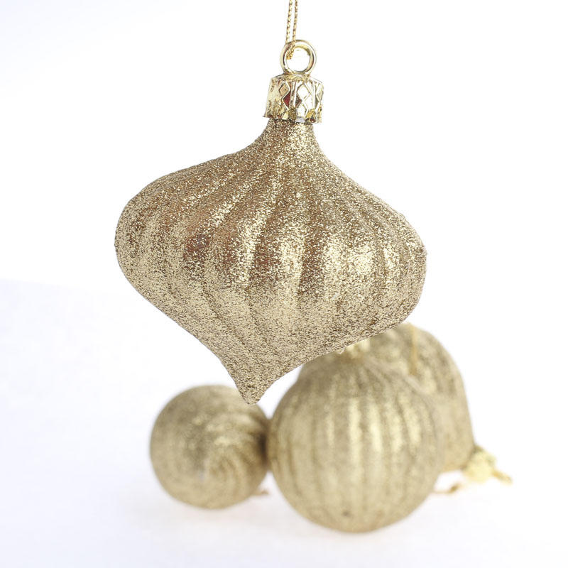 Glittered vintage inspired gold christmas ornaments for Christmas ornaments sale