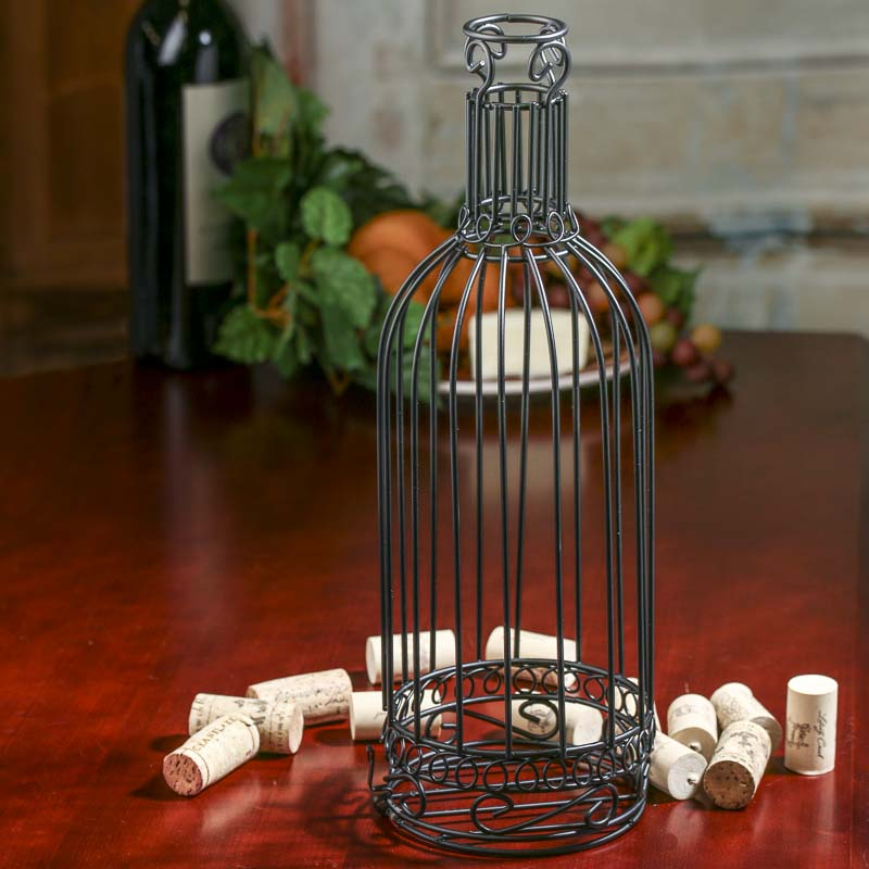 Wire Wine Bottle Cork Holder Kitchen And Bath Home Decor