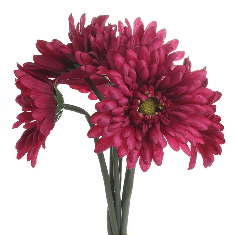 Fall Gerbera Daisy Bouquet Magenta Artificial Ger...