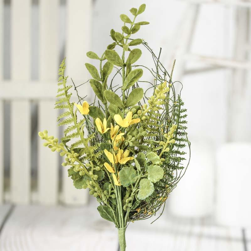 Artificial forsythia flowers and greenery spray picks for Flower sprays for weddings