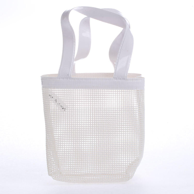Small White Vinyl Mesh Bag Craft Supplies Sale Sales