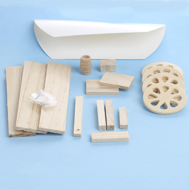 Wood model covered wagon kit kids craft kits kids for Wooden craft supplies online