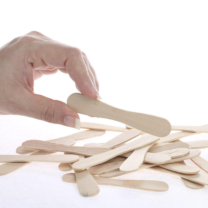 small unfinished wood craft spoons popsicle sticks and