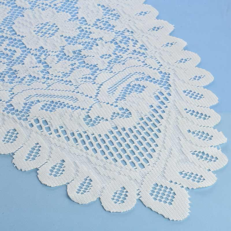 Ivory Lace Doily Table Runner - Crochet and Lace Doilies - Home Decor