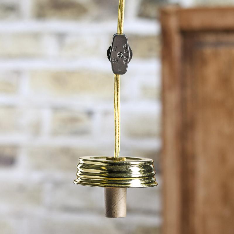 Regular Mouth Gold Mason Jar Lamp Kit Lamp Making Hobby
