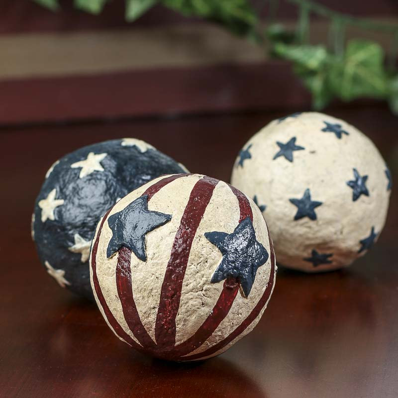 Primitive Americana Balls Vase And Bowl Fillers Home Decor