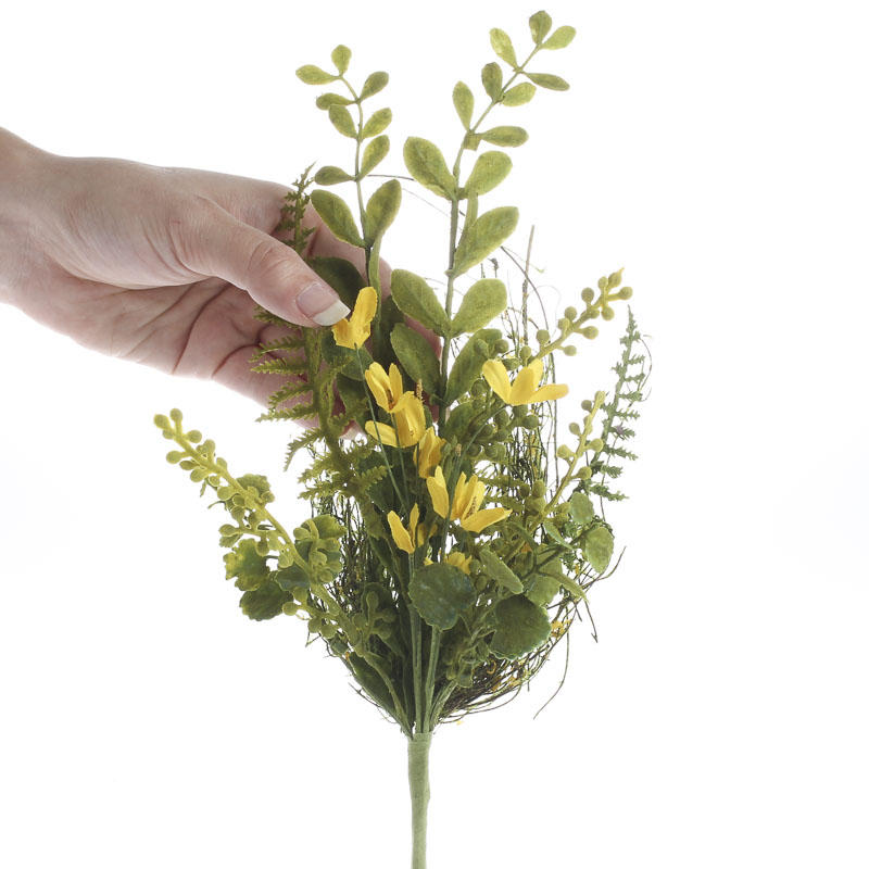Artificial forsythia and greenery spray picks sprays for Flower sprays for weddings