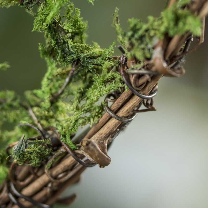 Mossy grapevine twig heart wall decor home decor for Twig decorations home