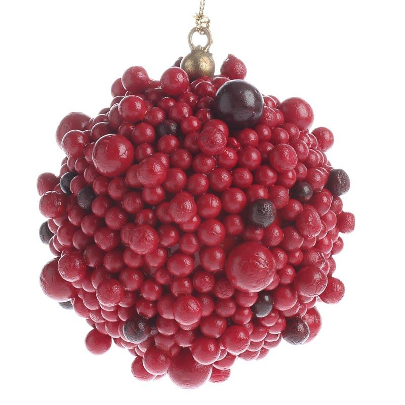 Red Berry Ball Ornament Vase And Bowl Fillers Home Decor