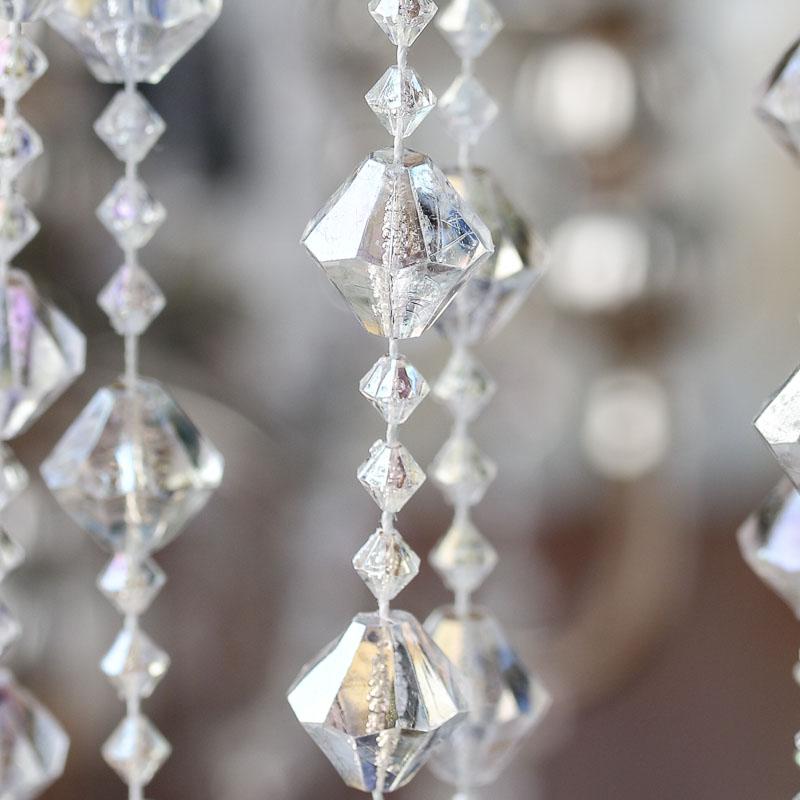 iridescent acrylic crystal garland - beach theme wedding cards