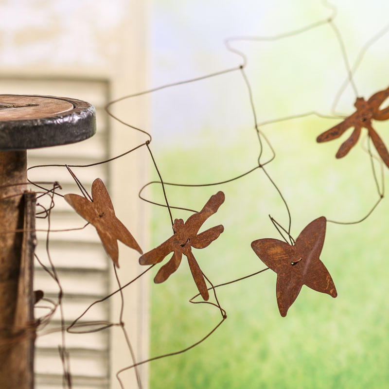 Rusty Butterfly and Dragonfly Fence Garland - Decorative Accents ...
