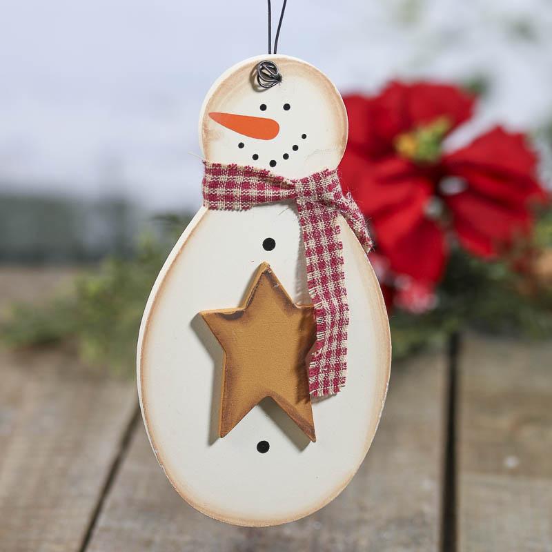Primitive snowman ornament christmas ornaments
