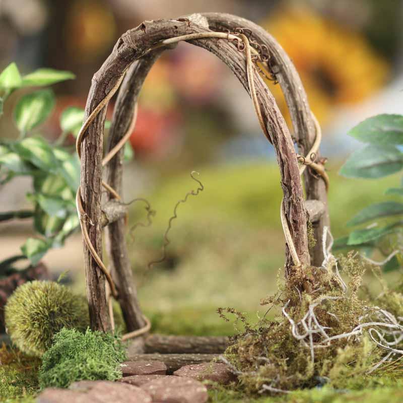 Gnome Garden: Miniature Woodland Twig Arch