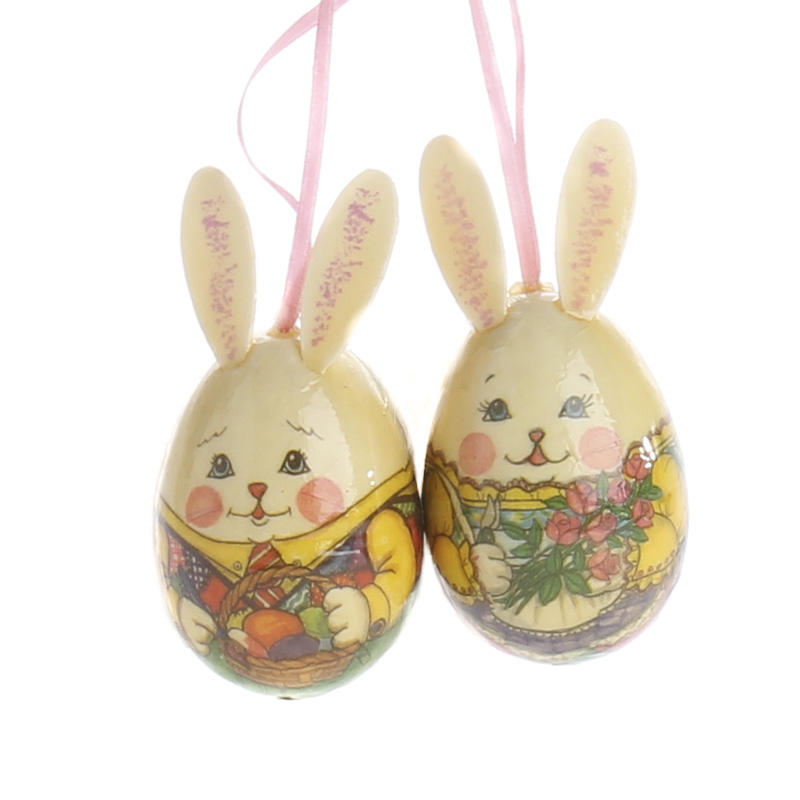 mr and mrs rabbit decoupage egg ornaments and easter crafts
