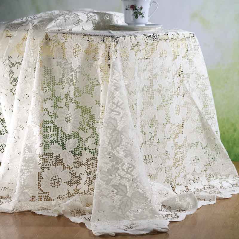 Charmant Item# LS16982 Let This Lovely Round Ivory Lace Doily Tablecloth ...