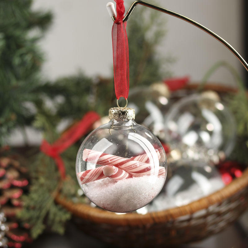 Clear Glass Ball Ornaments - Christmas Ornaments - Christmas and Winter - Holiday Crafts ...