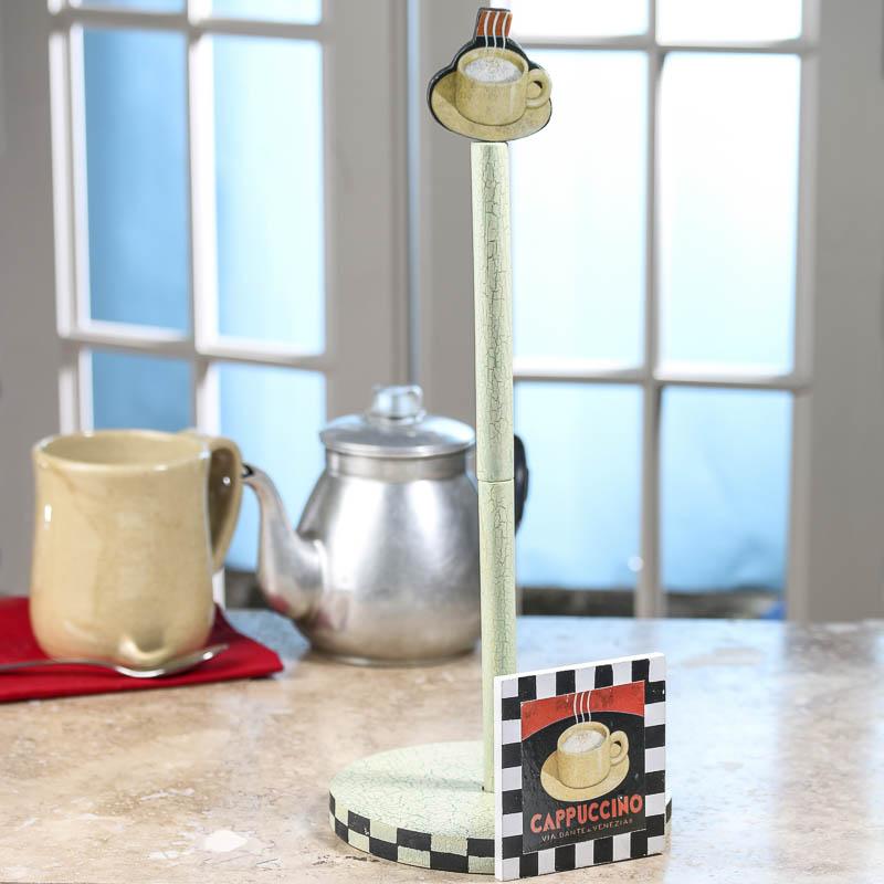retro coffee time paper towel holder decorative. Black Bedroom Furniture Sets. Home Design Ideas