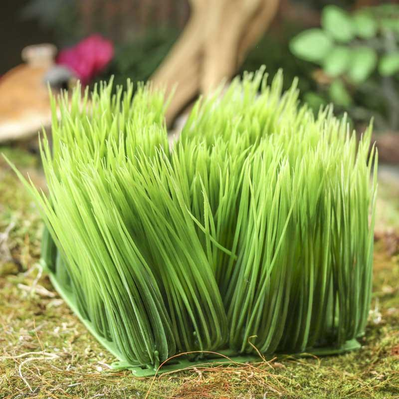 Artificial grass artificial greenery floral supplies for Faux grass for crafts