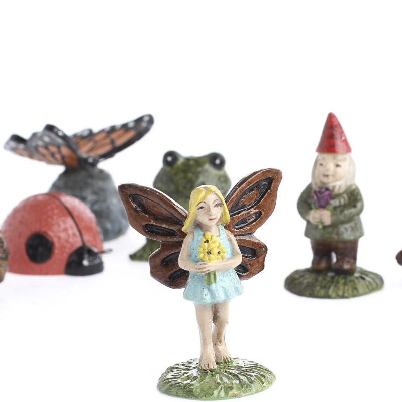Miniature fairy garden figurines what39s new craft supplies for Fairy garden figurines