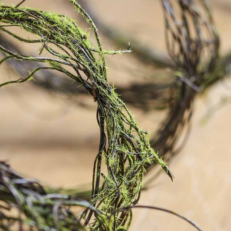 natural mossy twig vine garland