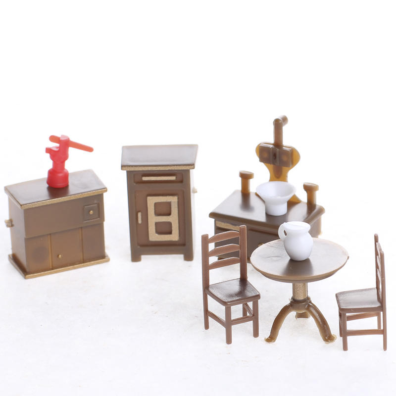 dollhouse miniature furniture. Interesting Dollhouse Dollhouse Miniature Furniture And Accessories  Dining Room Miniatures  Doll Making Supplies Craft Intended C