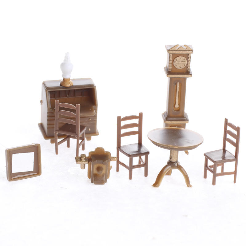 Micro Miniature Furniture Set Dining Room Miniatures