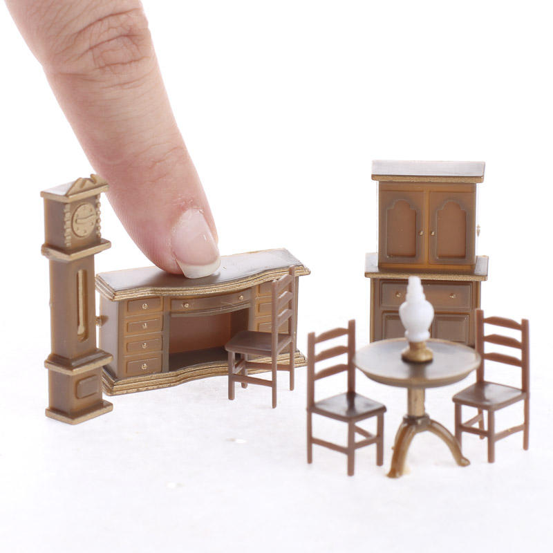 furniture miniature. micro miniature furniture set - dining room miniatures dollhouse doll making supplies craft e