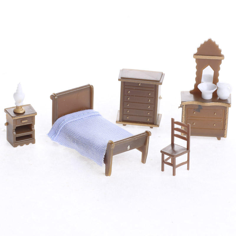 Dollhouse miniature bedroom furniture set new items for Factory direct bedroom furniture