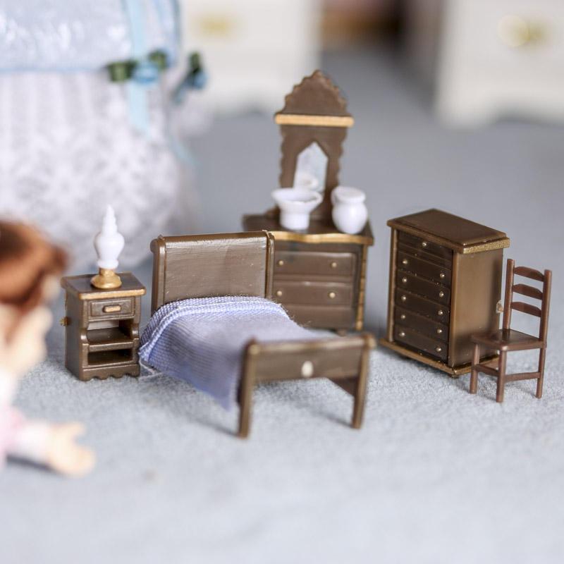 Micro Mini Bedroom Furniture Set Bedroom Miniatures Dollhouse