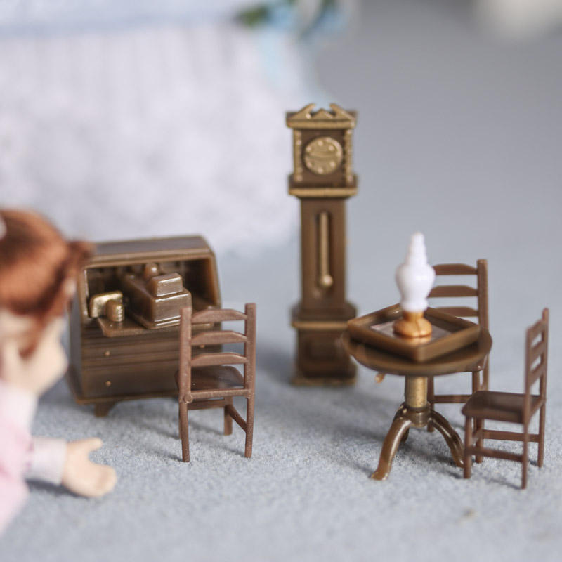 micro miniature furniture set dining room miniatures