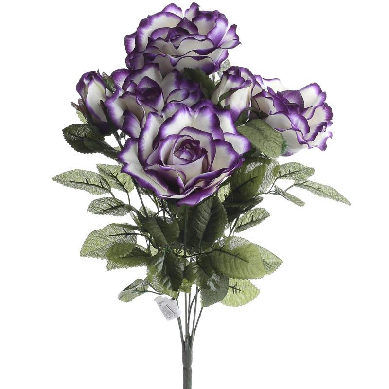 Purple Passion Artificial Rose Bush Bushes Bouquets