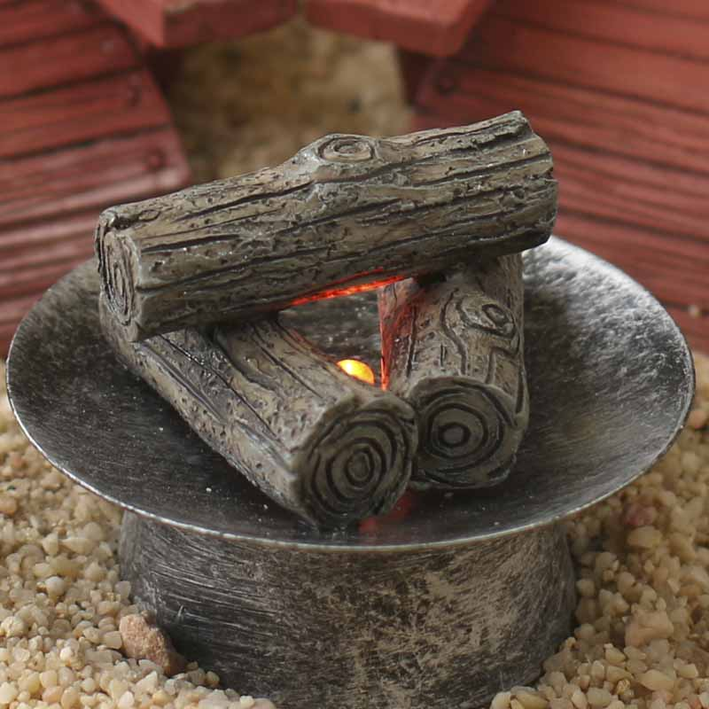 Miniature Fire Pit And Adirondack Chairs Set Fairy
