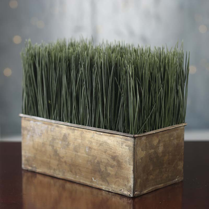 Sale Home Decor: Artificial Wheat Grass Planter