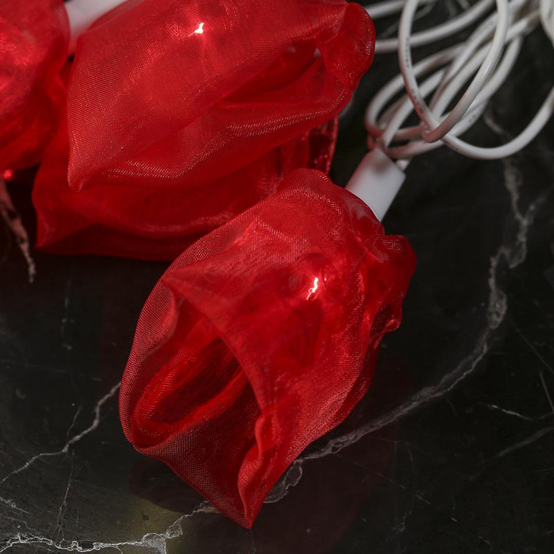 Red Decorative String Lights : Red Organza Bloom Decorative String Lights - Lighting - Home Decor