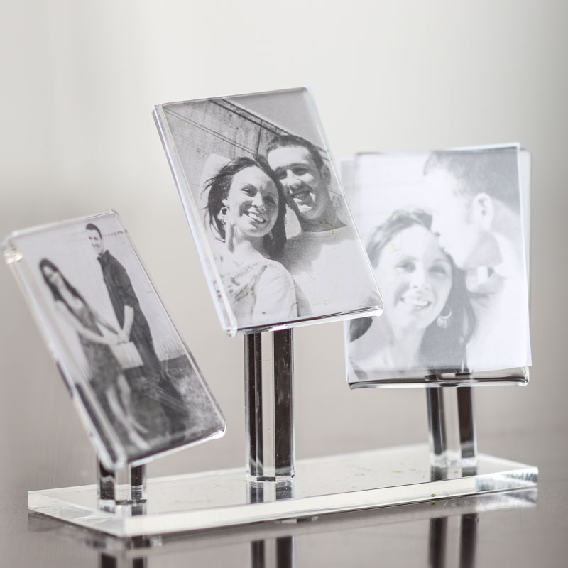 Miniature Clear Acrylic Picture Frames Stand - Picture Frames - Home ...